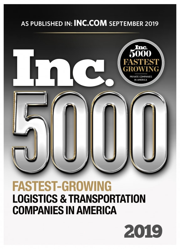 2019 INC 5000 Fastest Growing Logistics & Transportation Companies in America - Giltner Logisics
