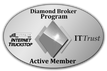 Diamond Broker Program Logo - Giltner Logistics