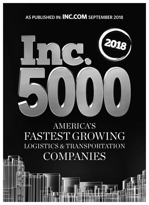 2018 INC 5000 Fastest Growing Logistics & Transportation Companies in America - Giltner Logisics
